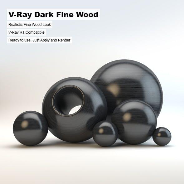 V-Ray Dark Fine Wood Material - 3DOcean Item for Sale