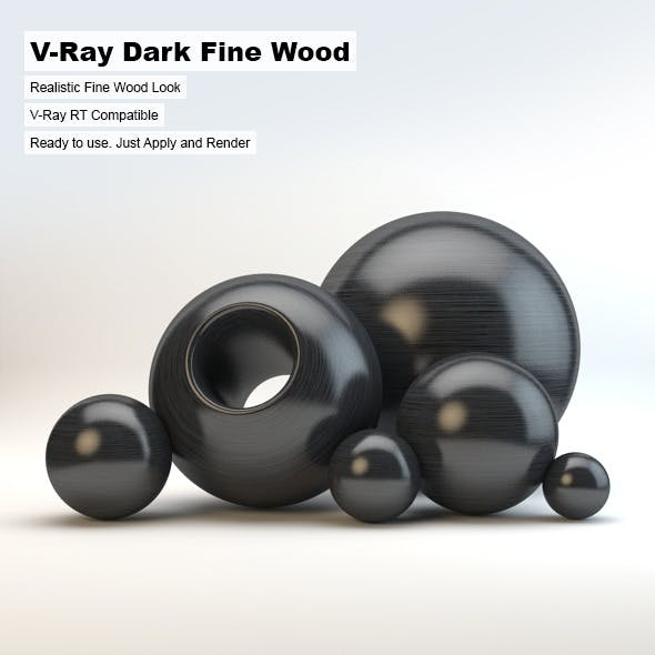 V-Ray Dark Fine Wood Material