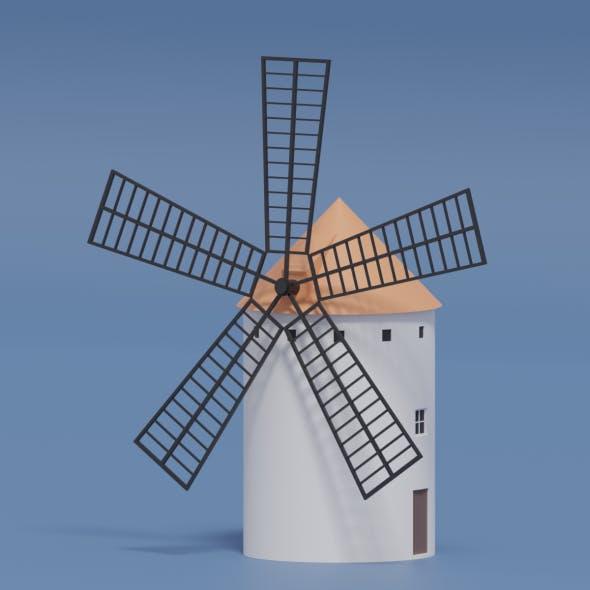 Cartoon Spanish Windmill