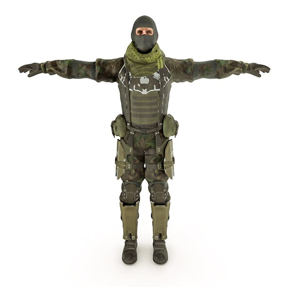 Special Force Soldier - 3DOcean Item for Sale
