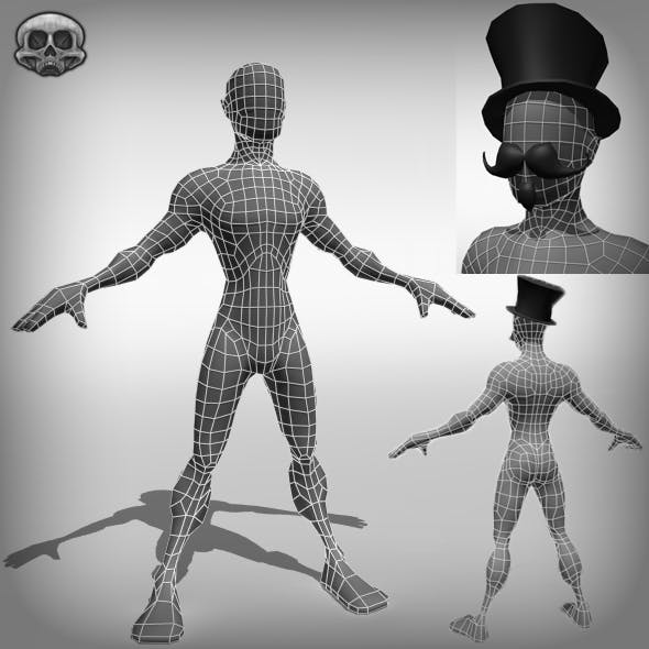 Stylised Male Base Mesh