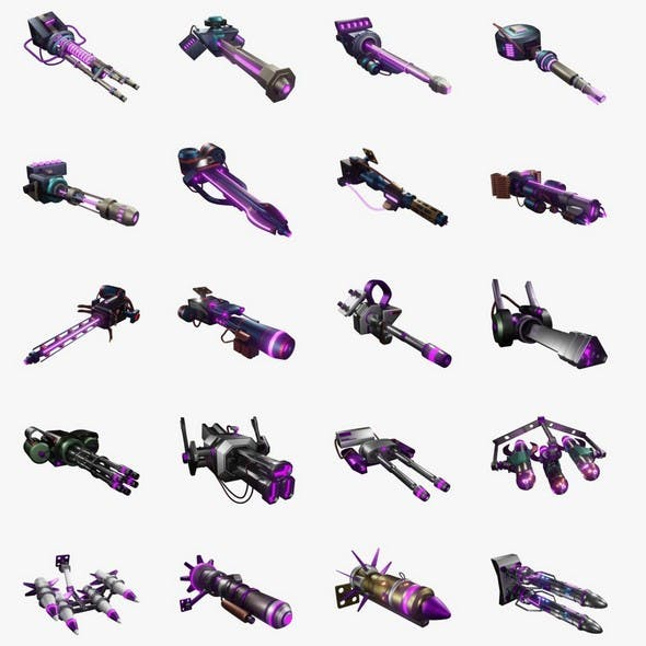21 simple Sci-Fi Ship Weapons