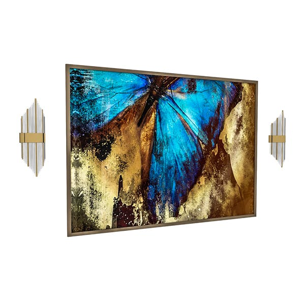 3d painting and sconce 3D model