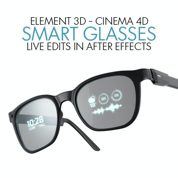 Smart Glasses Element 3D Realtime Hud 3D Model