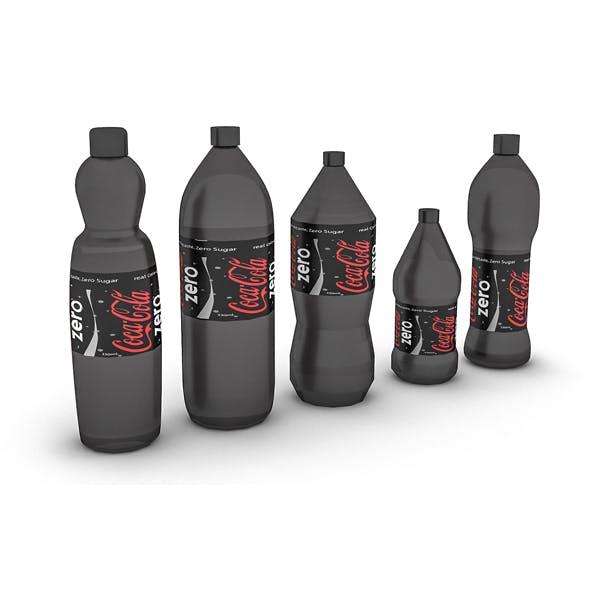 3D model assortment of cola bottles