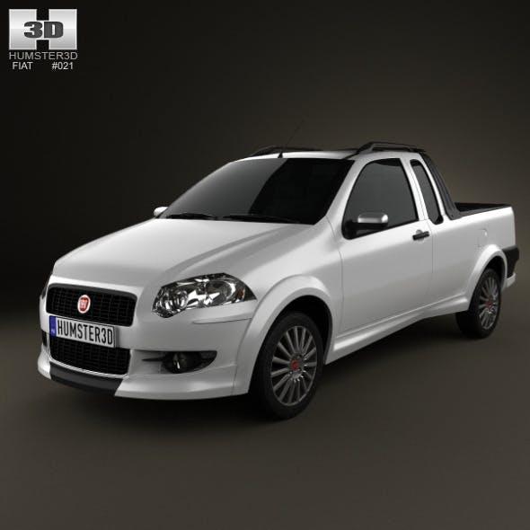 Fiat Strada Crew Cab Sporting 2012 - 3DOcean Item for Sale