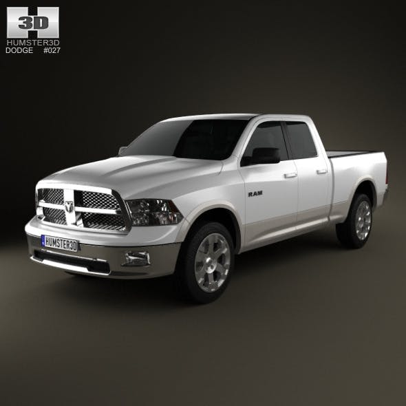 Dodge Ram 1500 Quad Cab Laramie 6-foot 4-inch Box  - 3DOcean Item for Sale