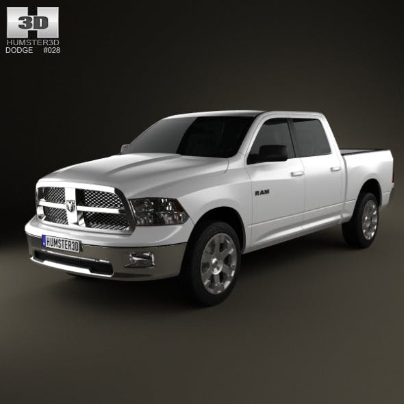 Dodge Ram 1500 Crew Cab Big Horn 5-foot 7-inch Box - 3DOcean Item for Sale
