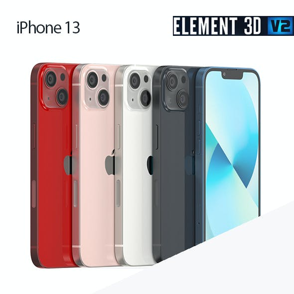 iPhone 13 all colors - Element 3D