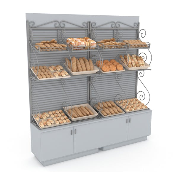 3d bread and cake sales 02 3D model