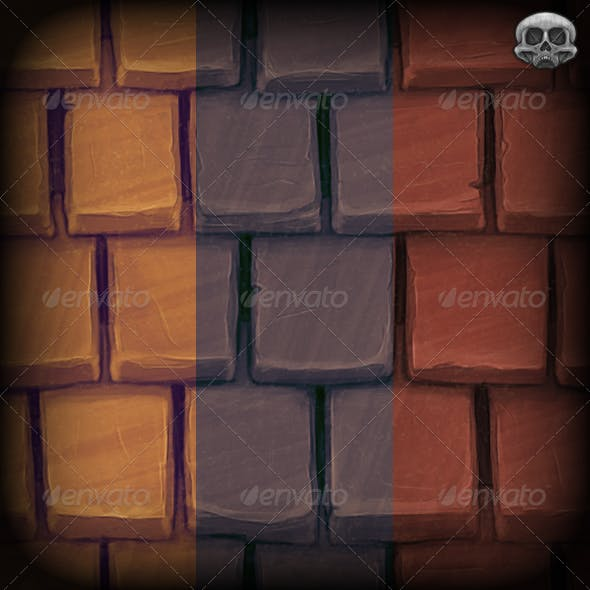 Handpainted Clay Roof Tile Texture