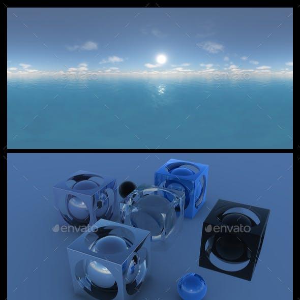 Ocean Blue Clouds 17 - HDRI