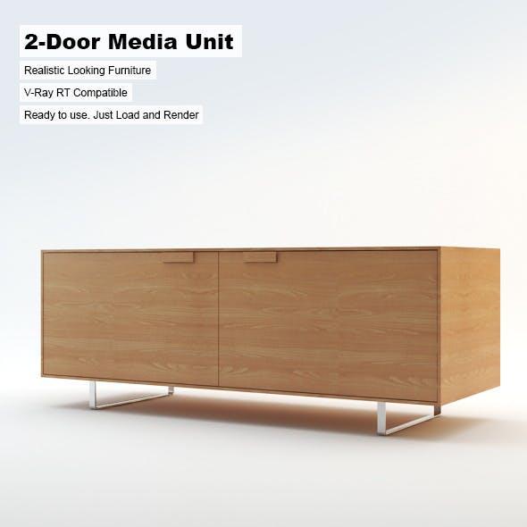 2-Door Media Unit - 3DOcean Item for Sale