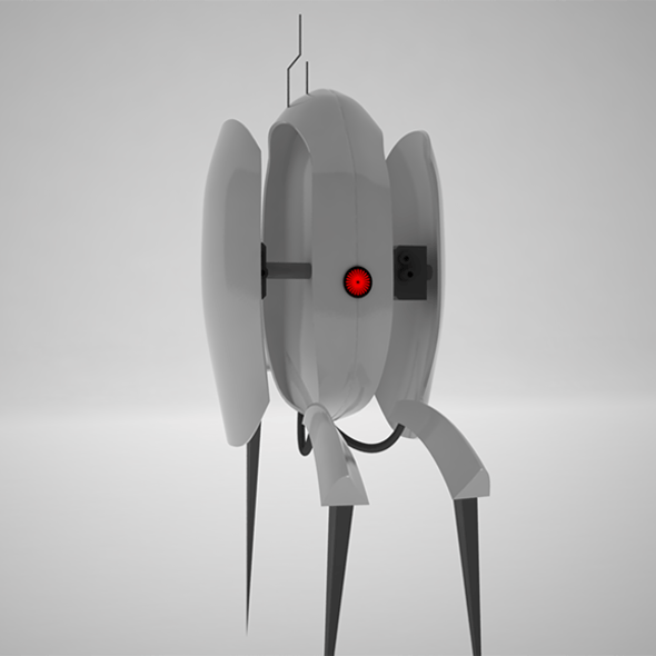 Turret from Portal with Texture of Eye