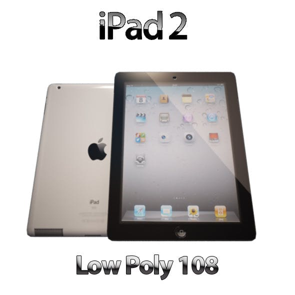 I Pad 2 Low Poly - 3DOcean Item for Sale