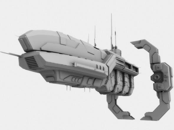 Spaceship and Jumpgate Models - 3DOcean Item for Sale