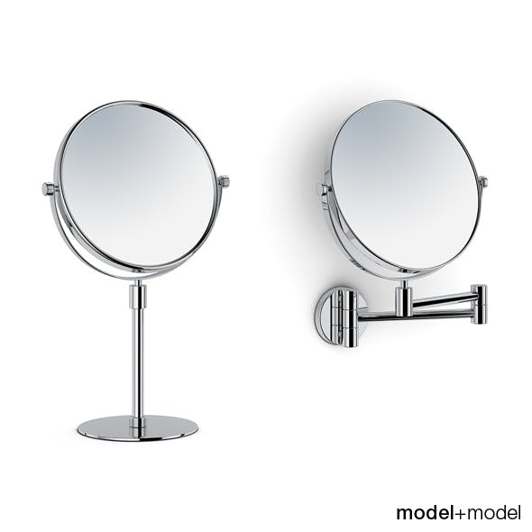 Magnifying stand and wall mirrors
