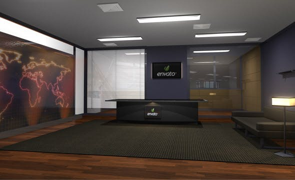 Office Interior - 3DOcean Item for Sale