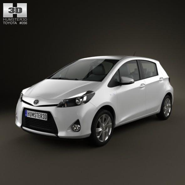 Toyota Yaris (Vitz) Hybrid 2013 - 3DOcean Item for Sale