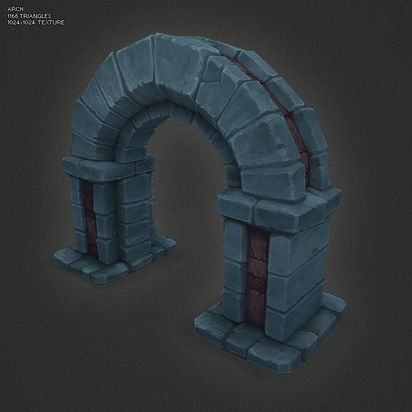Low Poly Dungeon Arch