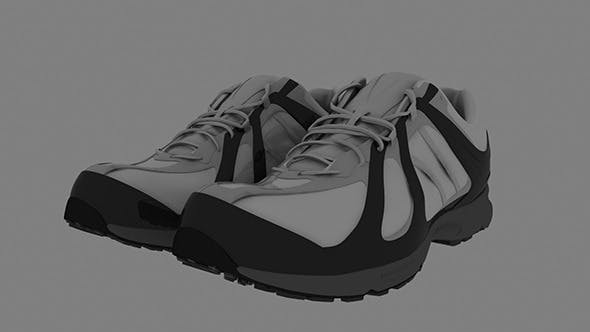 Realistic Sports Shoe Model - 3DOcean Item for Sale