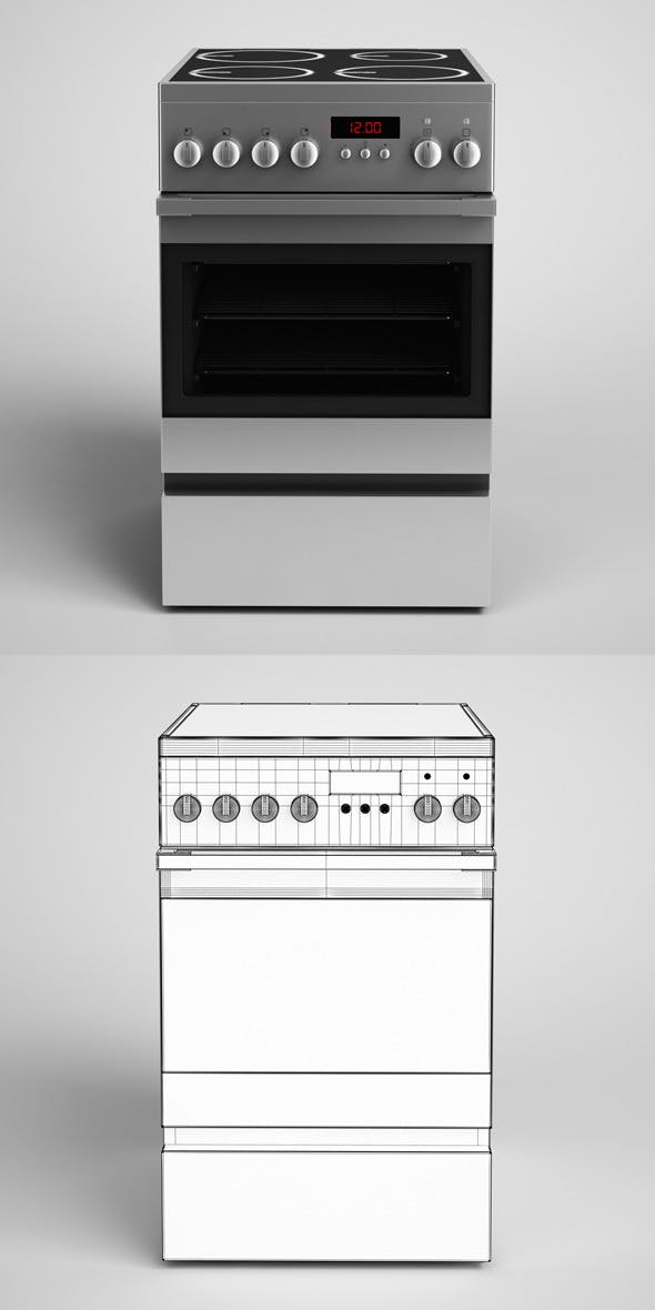 CGAxis Electric Stove 15 - 3DOcean Item for Sale