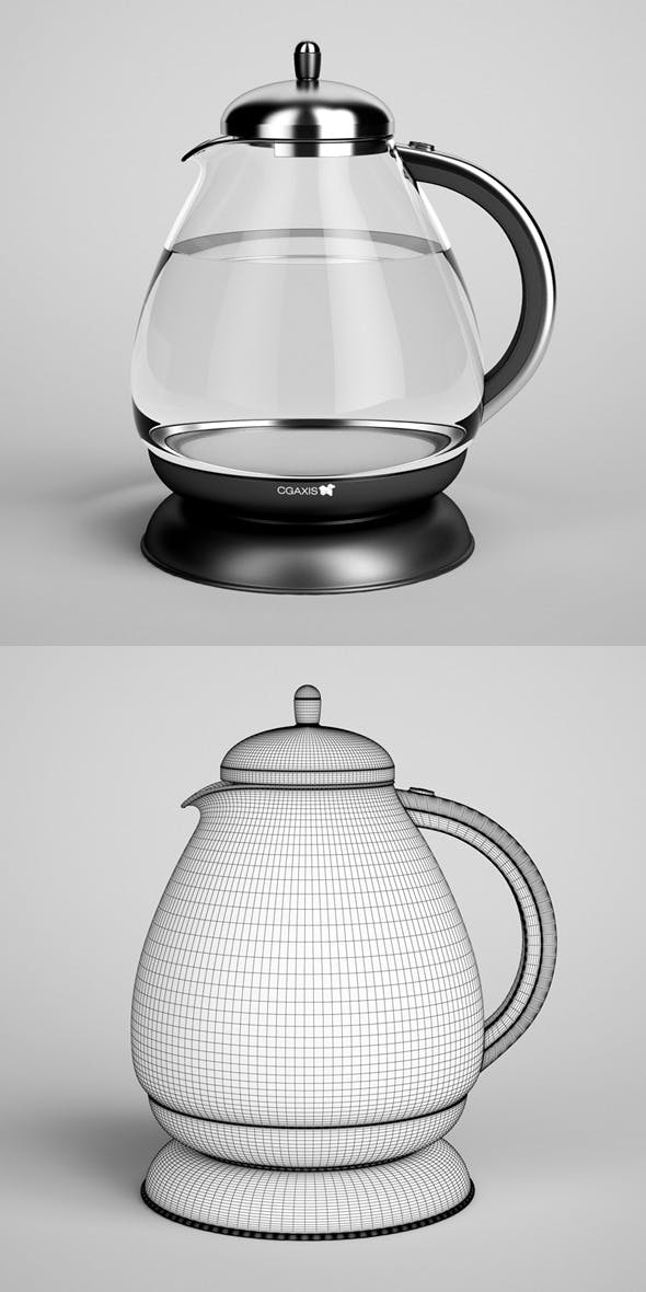 CGAxis Electric Kettle 03 - 3DOcean Item for Sale