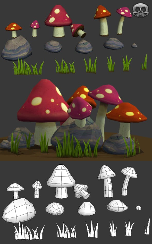 Low Poly Nature Asset Pack  - 3DOcean Item for Sale