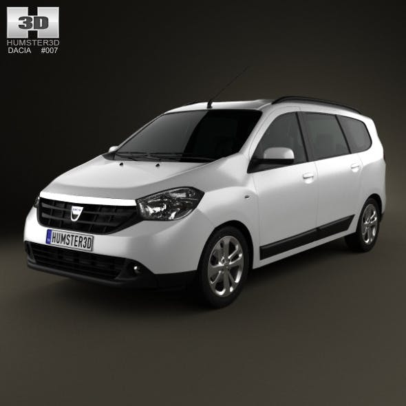 Dacia Lodgy 2012 - 3DOcean Item for Sale