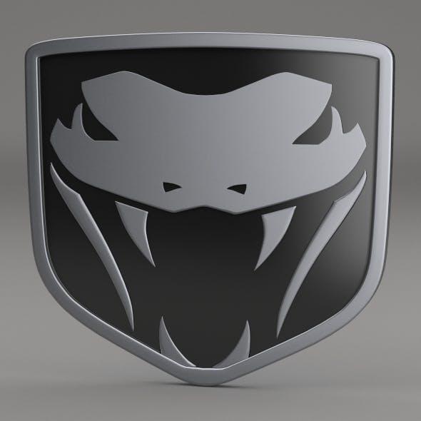 Dodge Viper Fangs Logo - 3DOcean Item for Sale