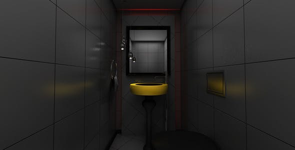 Realistic Vray Rendering of A Modern Bathroom - 3DOcean Item for Sale