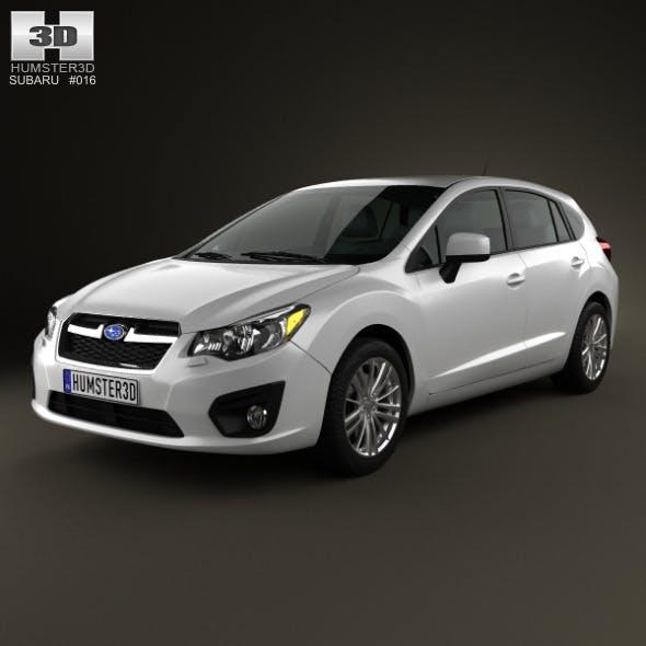 Subaru Impreza hatchback 2012 - 3DOcean Item for Sale