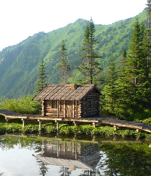 Old wooden siberian house - 3DOcean Item for Sale