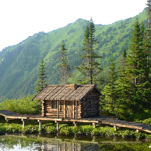 Old wooden siberian house
