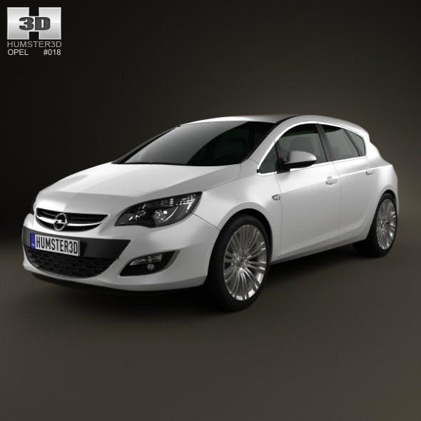 Opel Astra J hatchback 5-door 2012 - 3DOcean Item for Sale