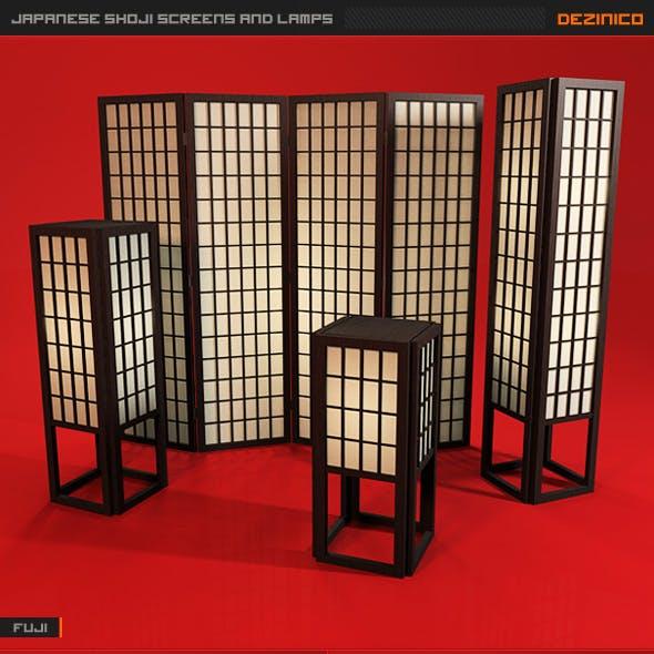 Japanese Shoji Screens and Lamps