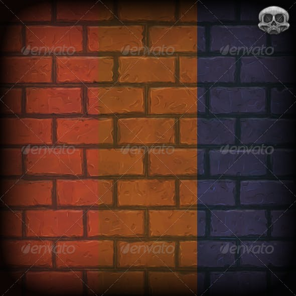 Hand Painted Brick Wall Texture Tile