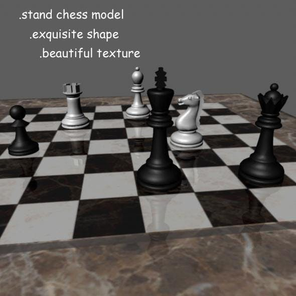 Chess Model - 3DOcean Item for Sale