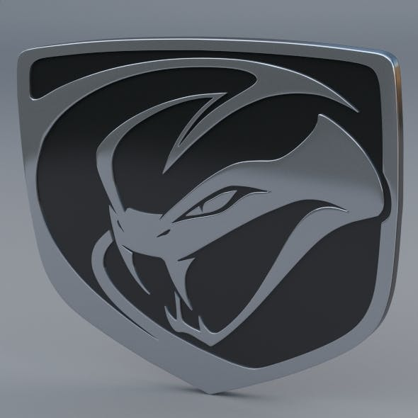 Dodge Viper Stryker Logo - 3DOcean Item for Sale