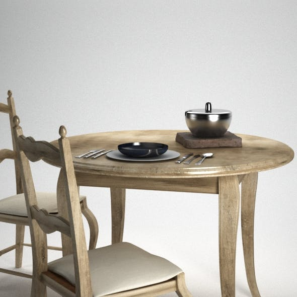 Kitchen Table with studio light INCLUDED !! - 3DOcean Item for Sale
