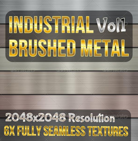 Industrial Brushed Metals Vol1 - 3DOcean Item for Sale