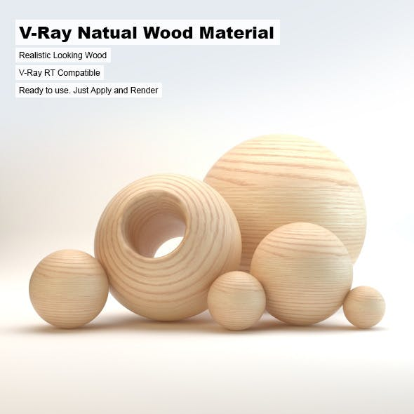 V-Ray Natural Wood Material