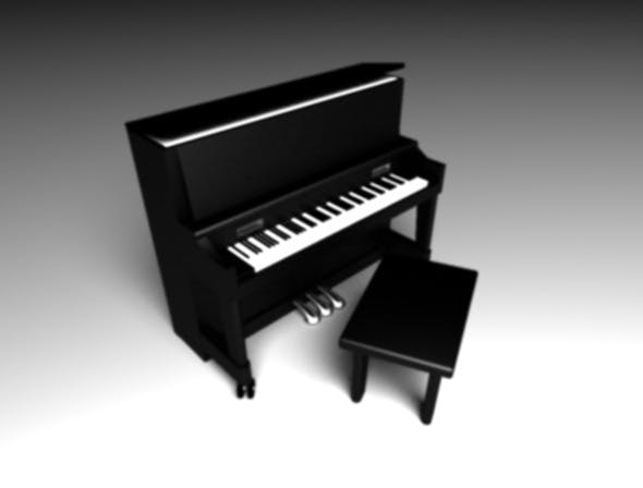 The Upright Piano - 3DOcean Item for Sale