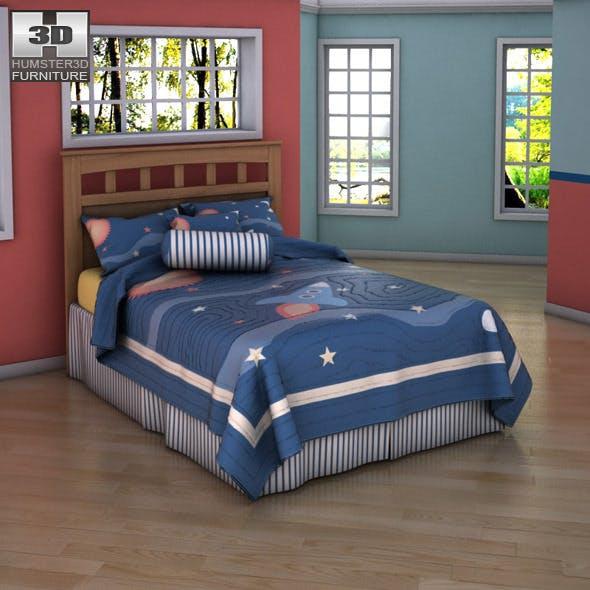 Ashley Benjamin Bed - Full Panel Headboard - 3DOcean Item for Sale