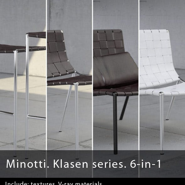 Minotti. Klasen series. 6-in-1
