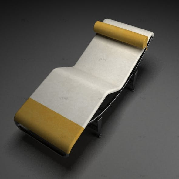 Le Corbusier Chaise Lounge chair - 3DOcean Item for Sale