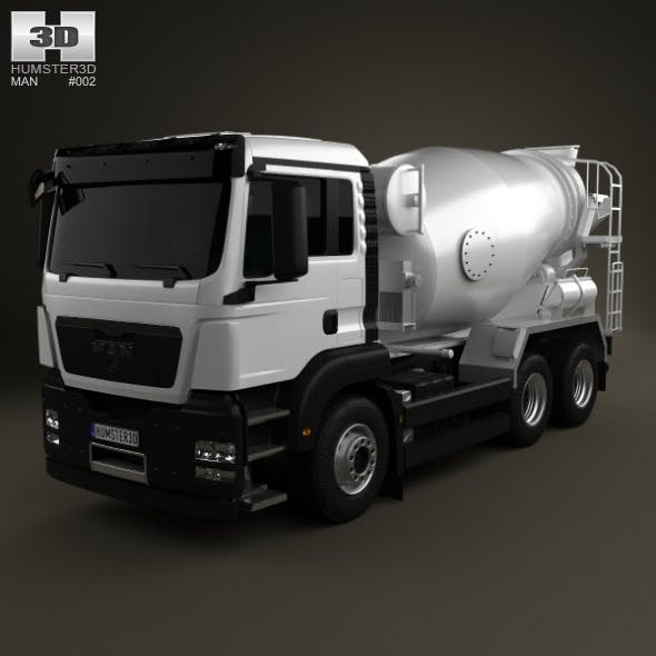 MAN TGS Mixer Truck 3-axis 2012