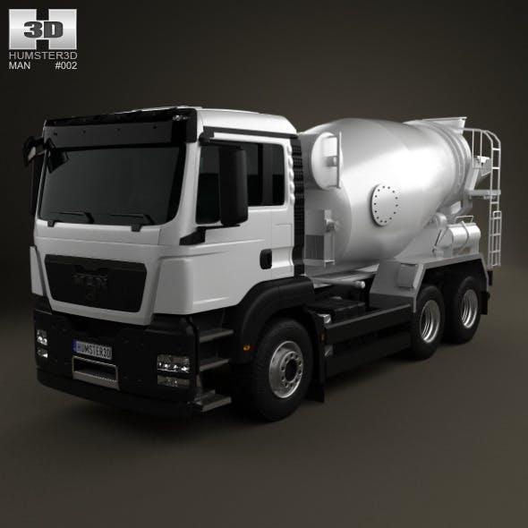 MAN TGS Mixer Truck 3-axis 2012