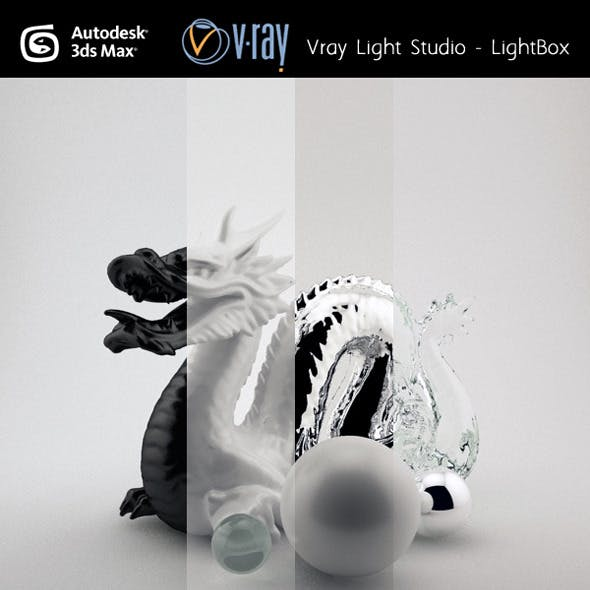 Studio light Setup VRAY