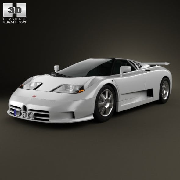 Bugatti EB110 1991 - 3DOcean Item for Sale